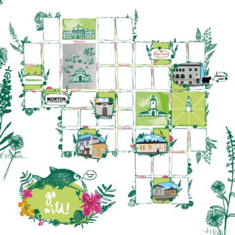 SATOA goes WILD -ruokatapahtuman kartan suunnittelu.